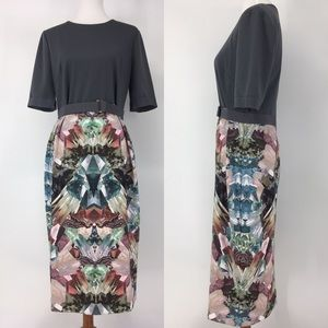 Ted Baker Mirrored Minerals Bodycon Dress Size 12